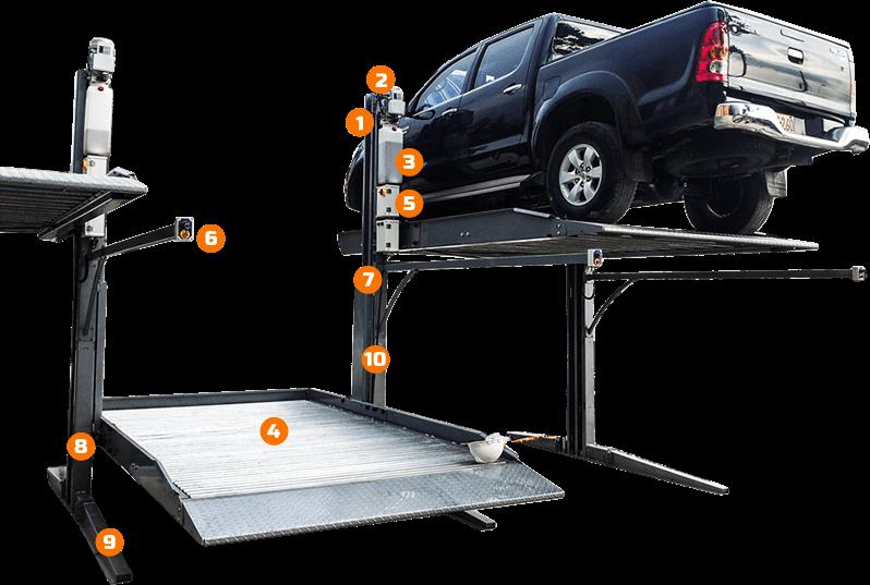 Duplicador de parqueo - sus partes - Smart Motion S.A.S.