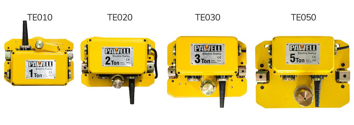 Trolleys eléctricos Pawell de diferentes capacidades